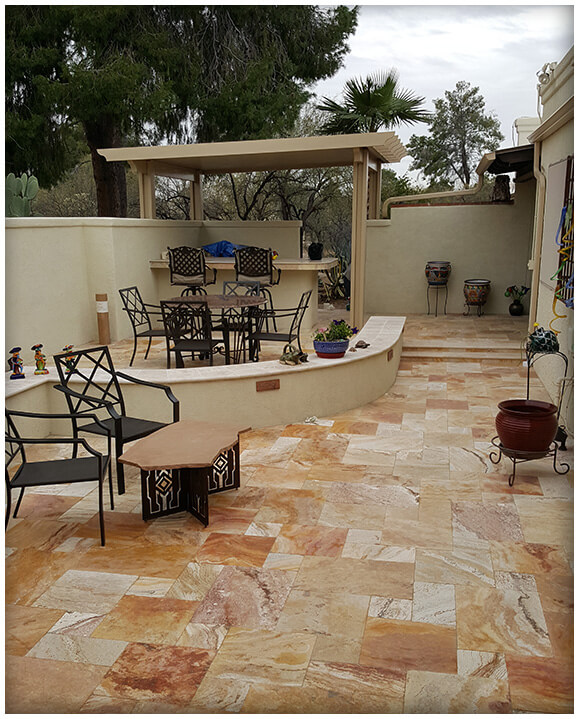 Paver Entry - Tucson Patios, Pavers and Walls