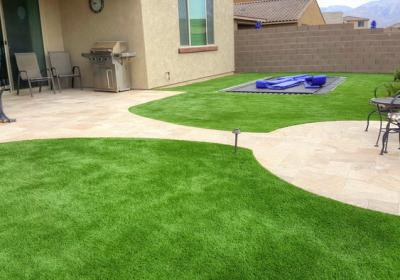 Artificial Turf In Ground Trampoline Tarvertine Patios