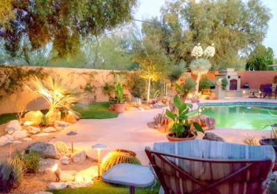 Desert Oasis With Low Voltage Lighting
