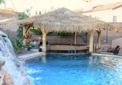 Palapa Structure With A Swim Up Bar